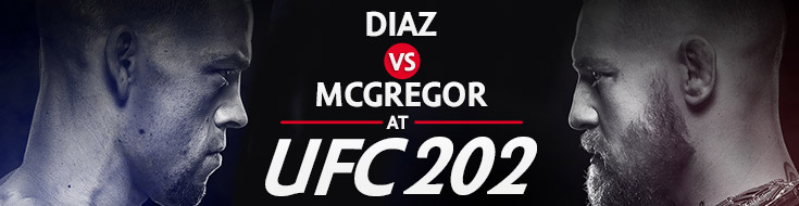 Diaz vs McGregor at UFC 202