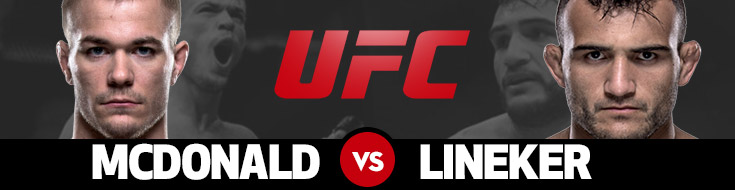 UFC Fight Night 91 Odds - McDonald vs. Lineker