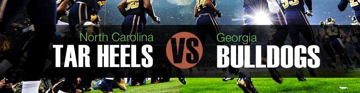 North Carolina Tar Heels vs. Georgia Bulldogs Odds and Game Preview Week 1