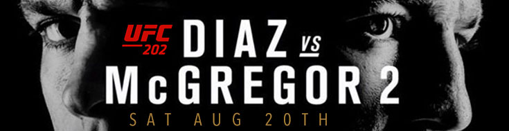 UFC 202 Nate Diaz vs. Conor McGregor Odds