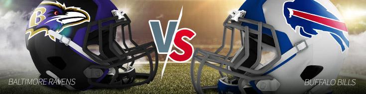 Football betting Odds: Buffalo Bills versus Baltimore Ravens