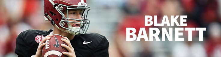 Alabama quarterback Blake Barnett
