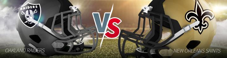 Oakland Raiders vs. New Orleans Saints NFL Week 1 Odds