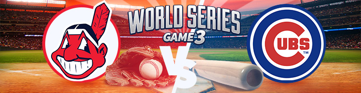 Cleveland Indians vs. Chicago Cubs World Series Game 3