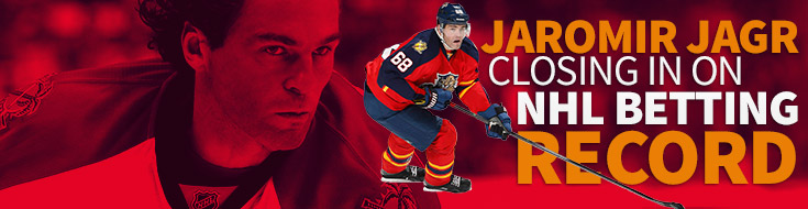 Jaromir Jagr Closing in On NHL Betting Record