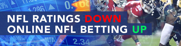 NFL Ratings Down, Online NFL Betting Up