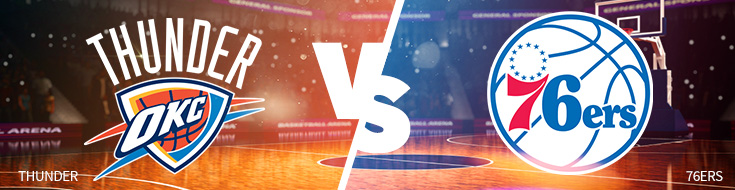 Oklahoma City Thunder vs Philadelphia 76ers