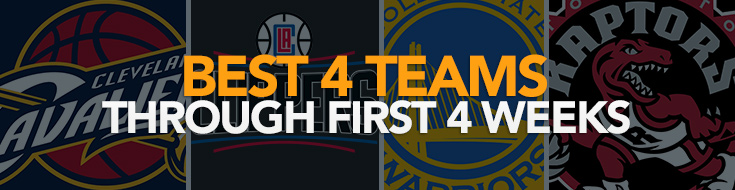 NBA Betting Best 4 Teams Through First 4 Weeks