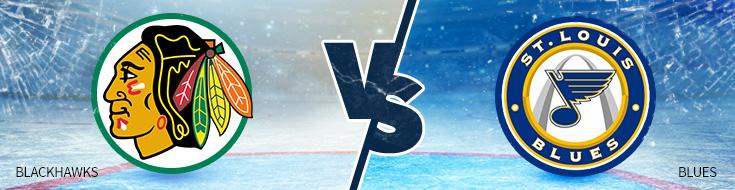 Chicago Blackhawks against St. Louis Blues