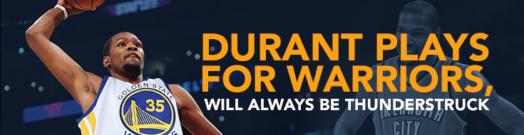 Durant plays for Warriors, will always be Thunderstruck