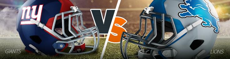 NFL Week 15 Giants vs Lions Sportsbook Odds