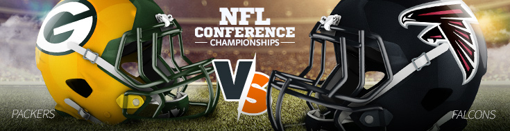 Conference ChampionShip Betting Odds Preview - Packers vs Falcons