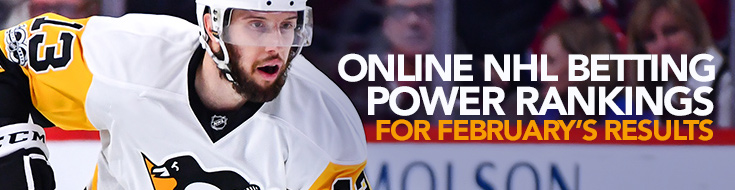 Online NHL Betting Power Rankings for February's Results