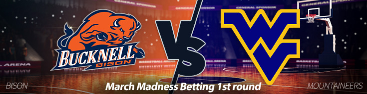 Bucknell Bison vs. West Virginia Mountaineers Marcha Madness Odds