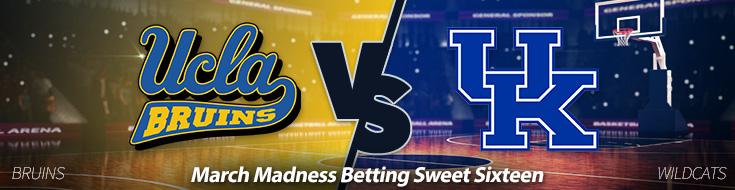 UCLA Bruins vs. Kentucky Wildcats Sweet Sixteen Odds - Friday, March 24
