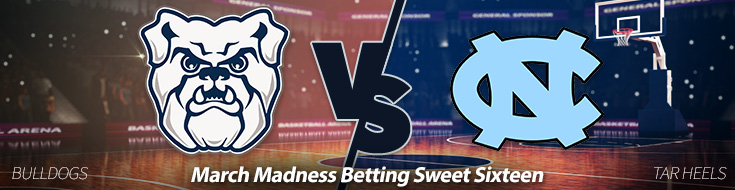 Butler Bulldogs vs. North Carolina Tar Heels Odds - Friday, March 24