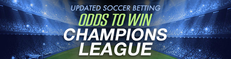 Updated soccer betting odds to win Champions League