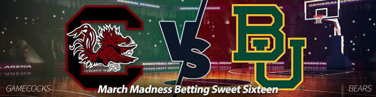 South Carolina Gamecocks against Baylor Bears Odds - Friday, March 24