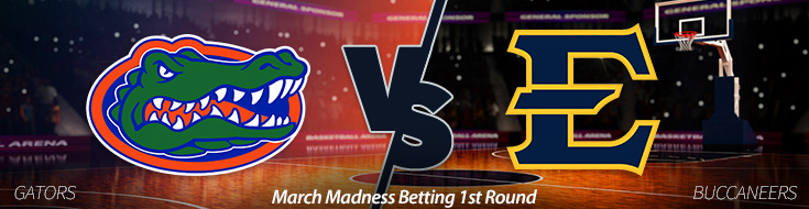 March Madness Betting 1st Round: Florida vs. E Tenn. St.