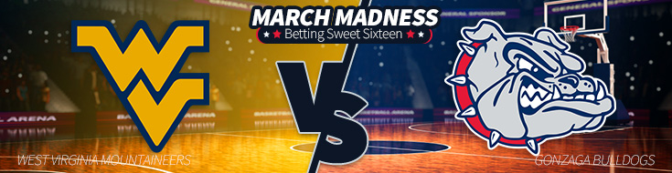 West Virginia vs. Gonzaga – Thursday, March 23 Odds