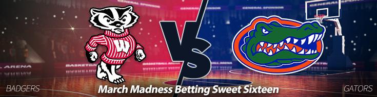 Wisconsin Badgers vs. Florida Gators Odds - Sweet Sixteen betting