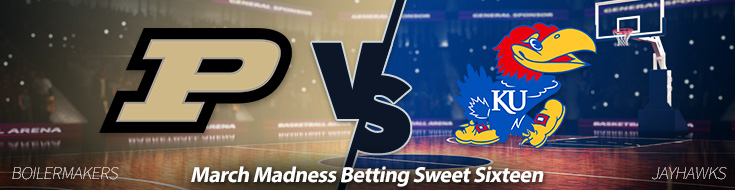 Purdue Boilermakers vs. Kansas Jayhawks Odds - March 23
