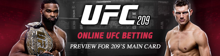 Online UFC Betting Preview for 209's Main Card