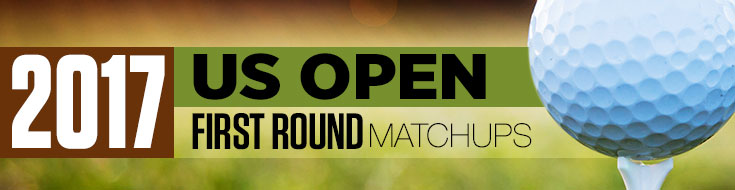 Golf 2017 US Open-matchups