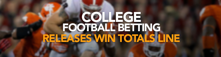 2017 College Football Season - betting Win Totals Line