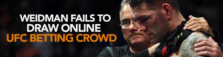 Weidman Fails to Draw Online UFC Betting Crowd