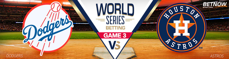 Los Angeles Dodgers vs. Houston Astros World Series Game 3 - Friday, October 27th