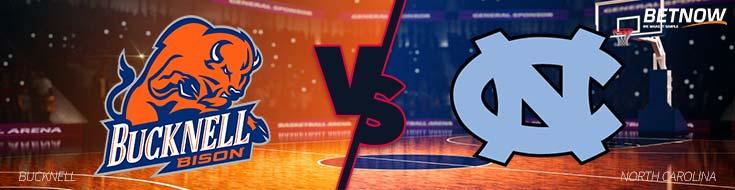 NCAA Basketball Betting Bucknell Bison vs. North Carolina Tar Heels – Wednesday, Nov. 15th