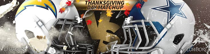 ThanksGiving Betting Los Angeles Chargers vs. Dallas Cowboys Odds and Preview