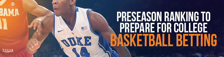 Preseason Ranking to Prepare for College Basketball Betting