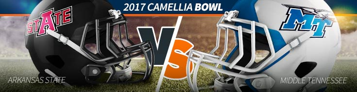 2017 Camellia Bowl Odds – Arkansas State vs. Middle Tennessee – Sat. Dec., 16th