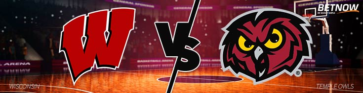 Wisconsin Badgers vs. Temple Owls – Wednesday, December 6th