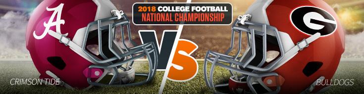 College Football Championship Betting, Alabama Crimson Tide vs. Georgia Bulldogs Odds – Monday, January 8th