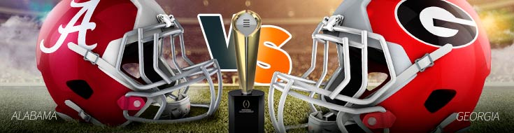 College Football Championship Game Odds - Alabama Crimson Tide vs. Georgia Bulldogs – Monday, January 8th