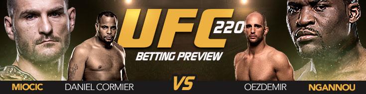 UFC 220 Betting: Miocic vs. Ngannou