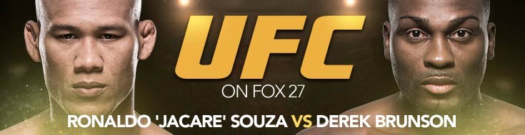 UFC on Fox 27: Jacare vs. Brunson 2 Odds and Betting