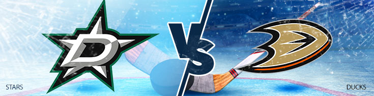 Online NHL Betting Odds - Dallas Stars vs. Anaheim Ducks - Wednesday, February 21