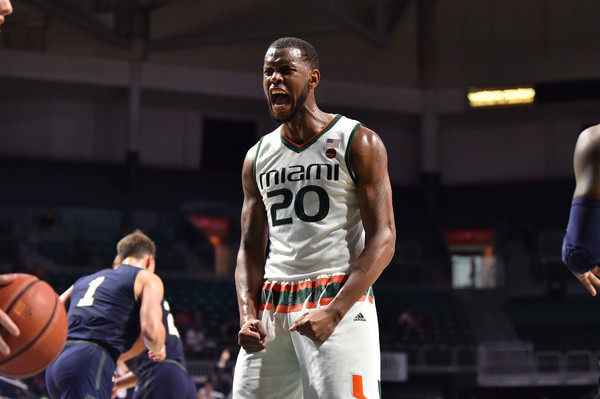 Dewan Huell looks to lead the Hurricanes to an ACC quarterfinal triumph over the Tar Heels in tonight's North Carolina vs. Miami basketball betting contest
