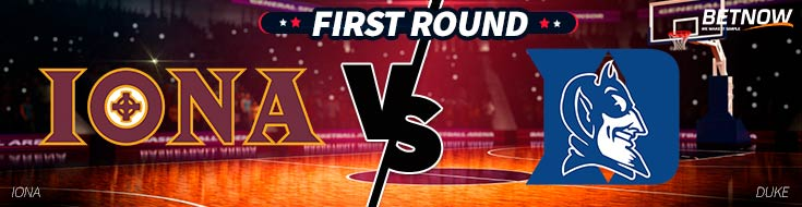 Iona vs. Duke basketball First Roun Betting