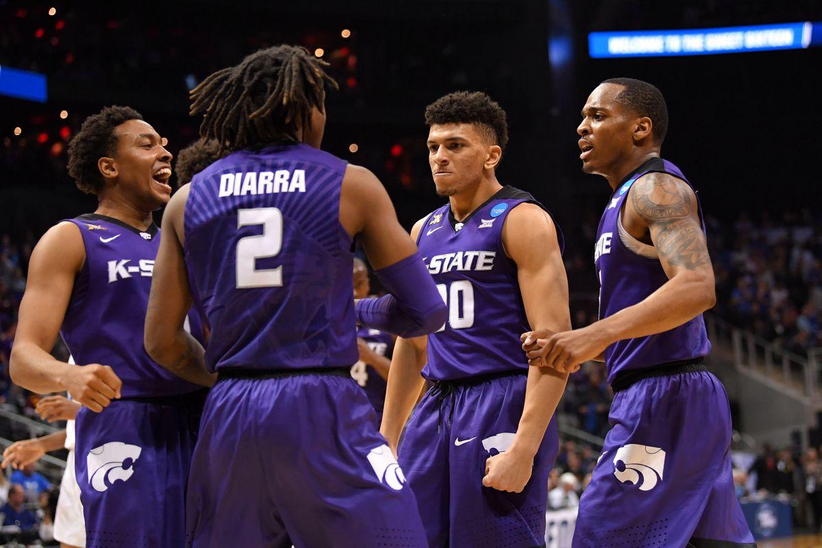Kansas State Basketball Celebrates making the Elite Eight round
