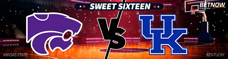 March Madness Betting Preview of Kansas State vs. Kentucky basketball Sweet Sixteen matchup