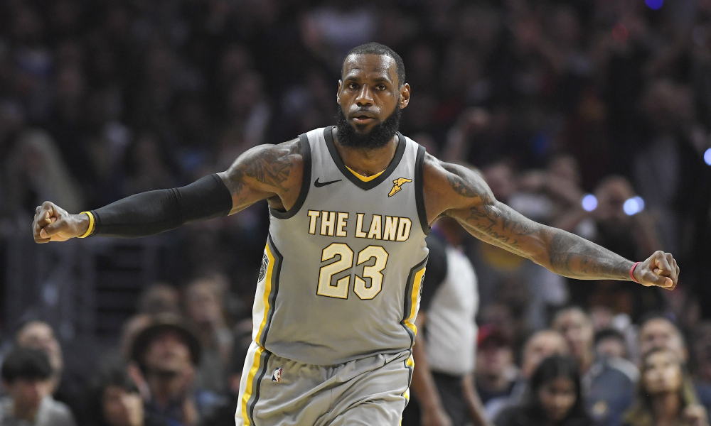 James leads the Cavs in tonight's Cleveland Cavaliers vs. Phoenix Suns matchup