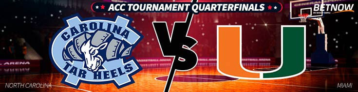 North Carolina vs. Miami basketball matchup will be held this Thursday, bringing us the quarterfinal round of the 2018 ACC Tournament
