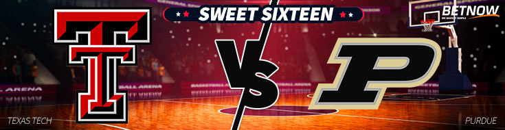 Sweet Sixteen betting preview of Texas Tech vs. Purdue Basketball matchup