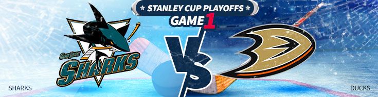 NHL Betting Preview of San Jose Sharks vs. Anaheim Ducks postseason series Game 1