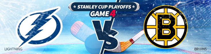 Tampa Bay Lightning vs. Boston Bruins Game 4 NHL Playoffs odds